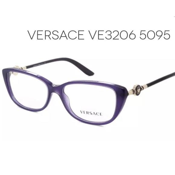 4f04526c3548 Purple Versace eyeglasses   case. M 5b65e7f1fe515136e3e39a88